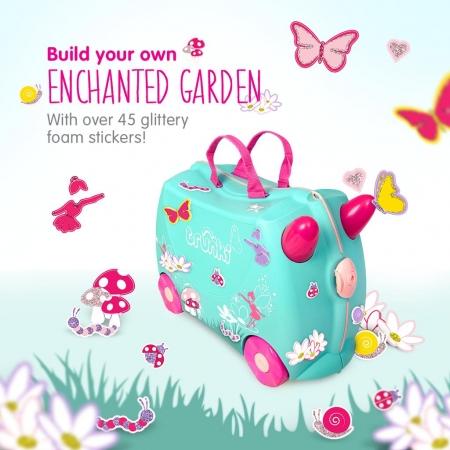 Set travel pentru copii Valiza TRUNKI Flora - Fairy + Trunki Tidy Bag Pink2