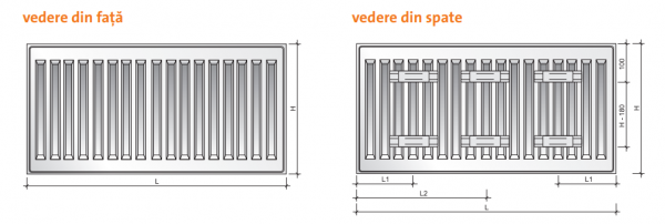 Radiator panou PURMO COMPACT 33-600-500 2