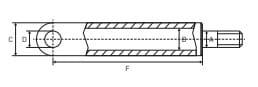 Cilindru hidraulic de ridicare pentru utilaje industriale, 825mm [2]