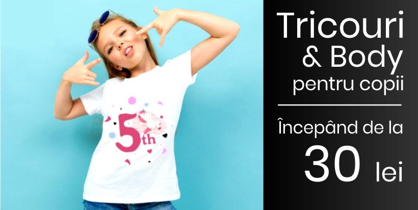 Tricouri & Body pentru copii!