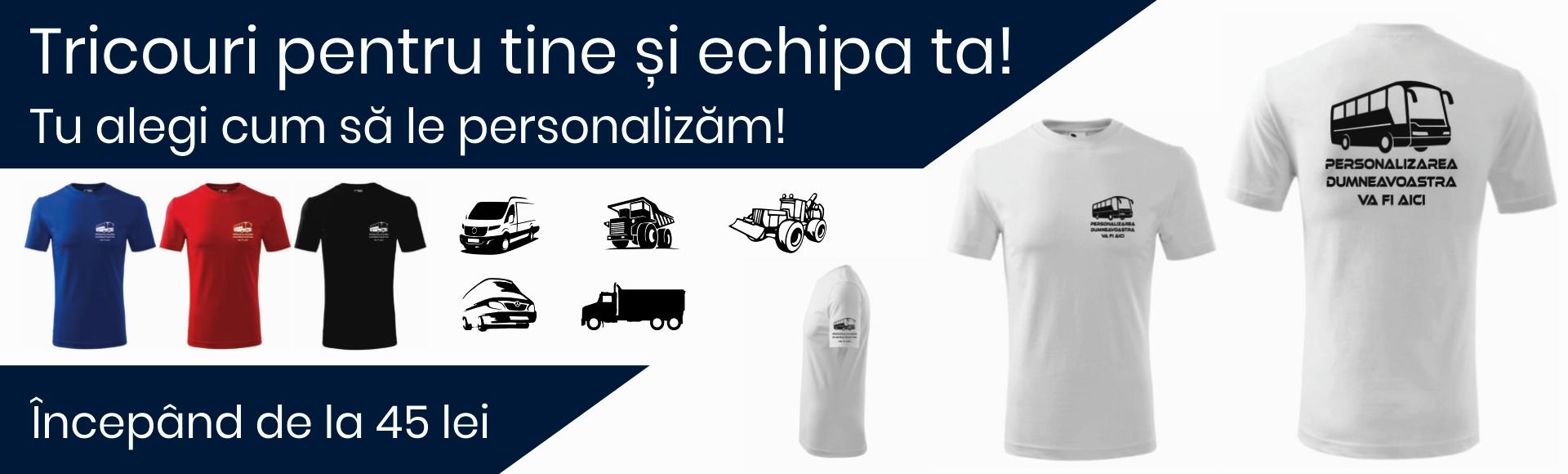 Banner Tricouri Pentru Tine și Echipa ta!