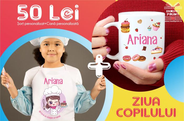 Șorț personalizat pentru copii + Cana 0
