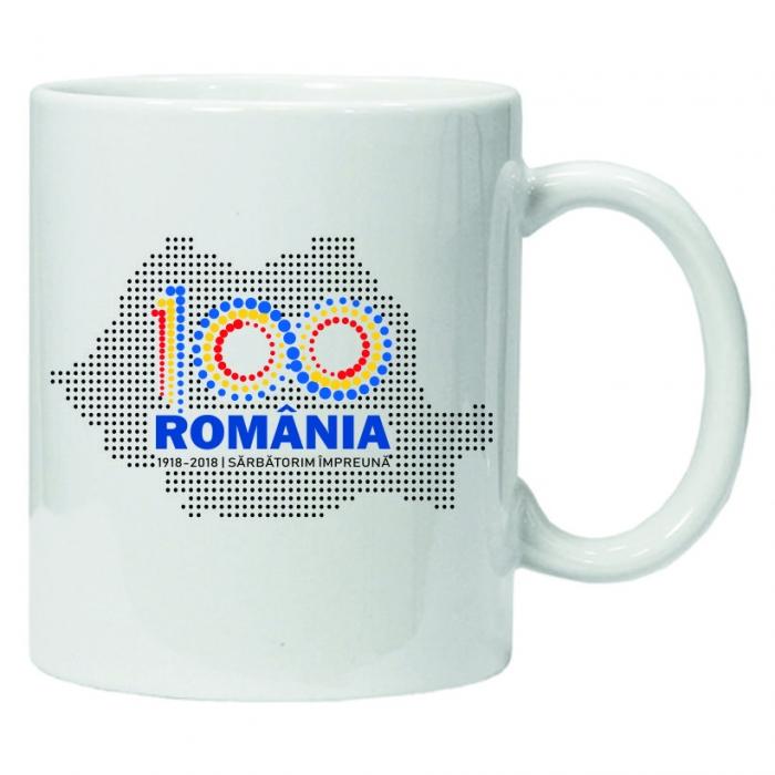 Cană personalizată România 100 0