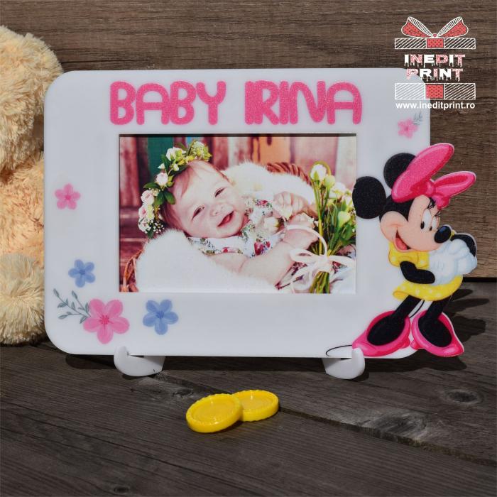 Ramă foto personalizată Minnie Mouse RFP1 0