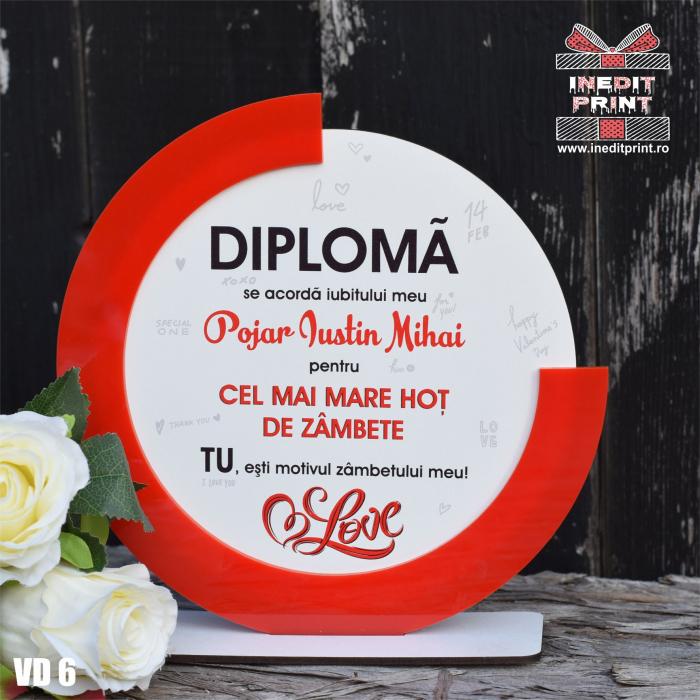 Diploma personalizata Hot de zambete VD6 1