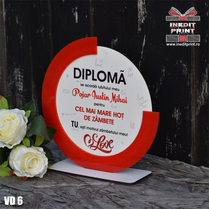 Diploma personalizata Hot de zambete VD6 2