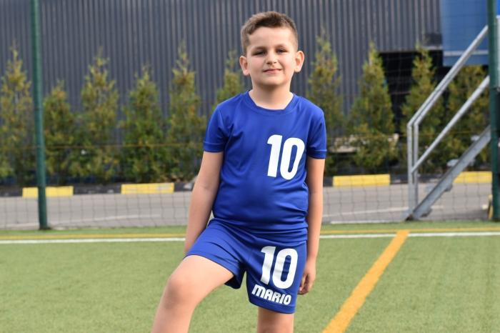 Echipament fotbal copii personalizat + Cana personalizata 3