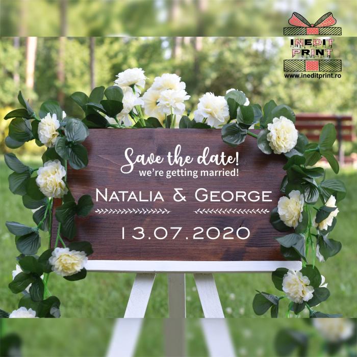 Placuta personalizata Save The Date STD6 3