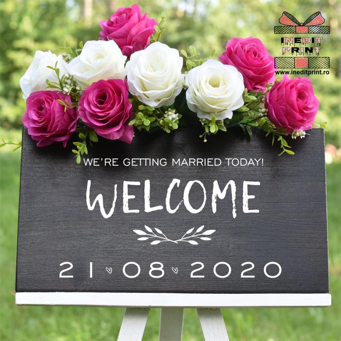 """Plăcuță Întâmpinare """"Welcome"""" Personalizată PN48 3"""