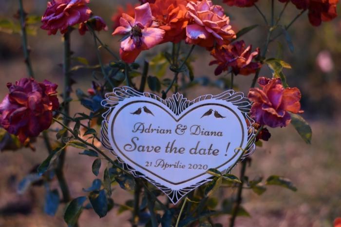 Placuta personalizata Save The Date STD 1 3