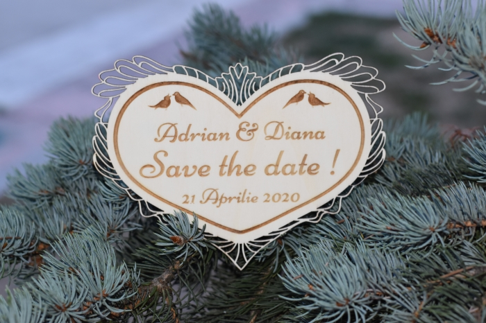 Placuta personalizata Save The Date STD 1 1