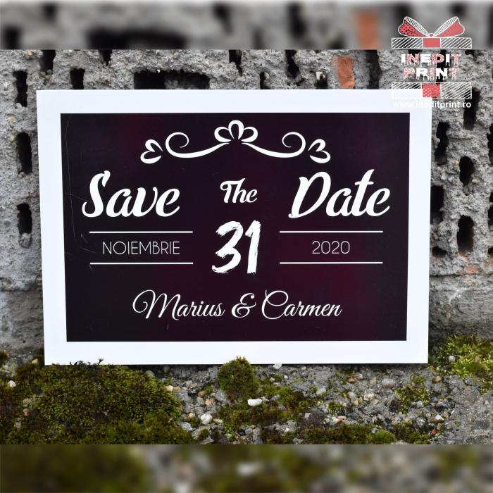 Placuta personalizata Save The Date STD 4 1
