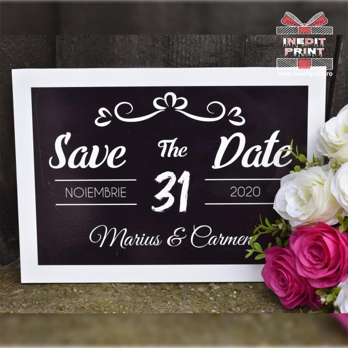 Placuta personalizata Save The Date STD 4 0