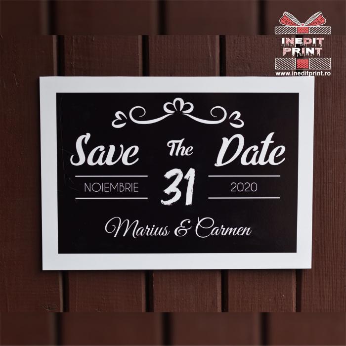 Placuta personalizata Save The Date STD 4 2