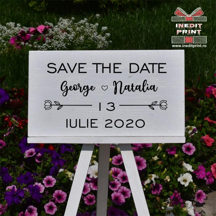 Placuta personalizata Save The Date STD7 1