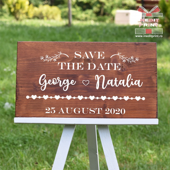 Placuta personalizata Save The Date STD8 2
