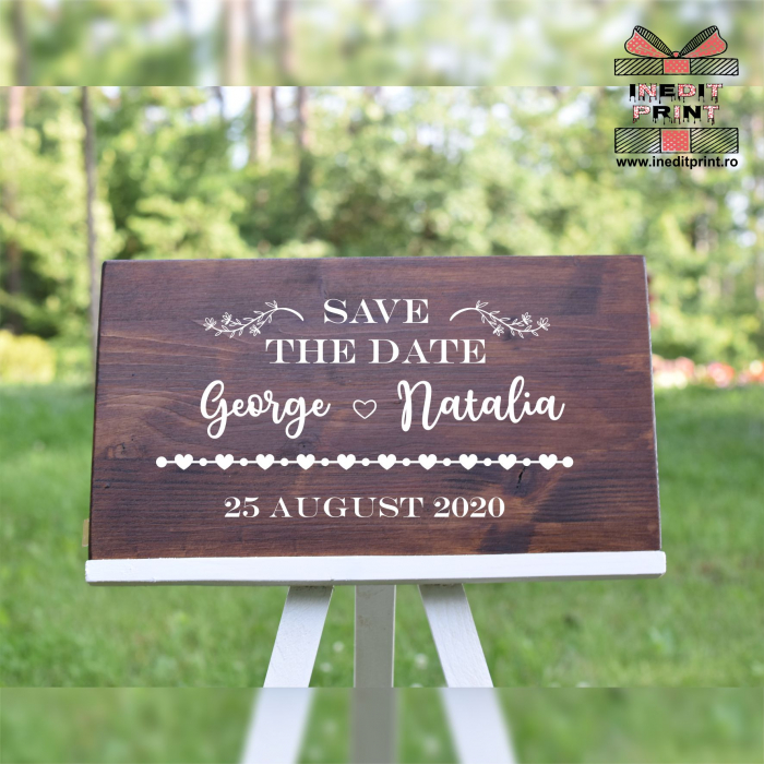 Placuta personalizata Save The Date STD8 3