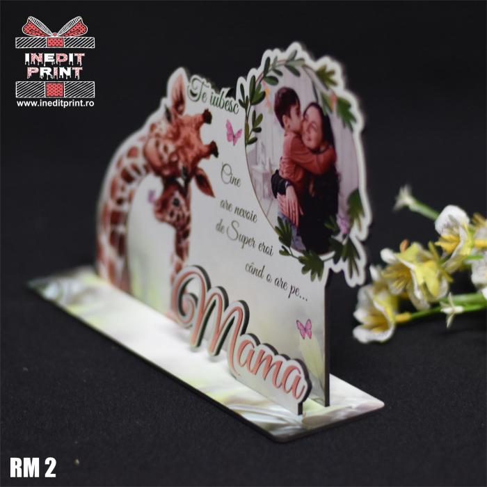 """Ramă foto personalizată """"Te iubesc mama"""" RM2 5"""