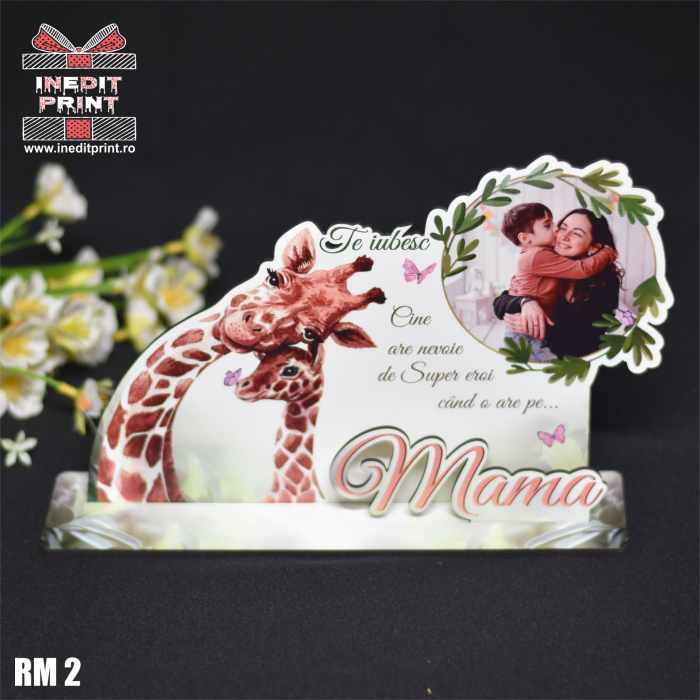 """Ramă foto personalizată """"Te iubesc mama"""" RM2 4"""