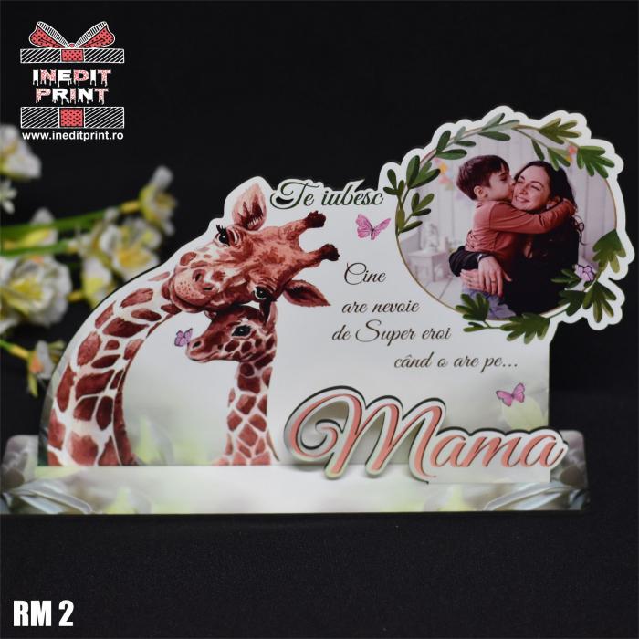"""Ramă foto personalizată """"Te iubesc mama"""" RM2 3"""