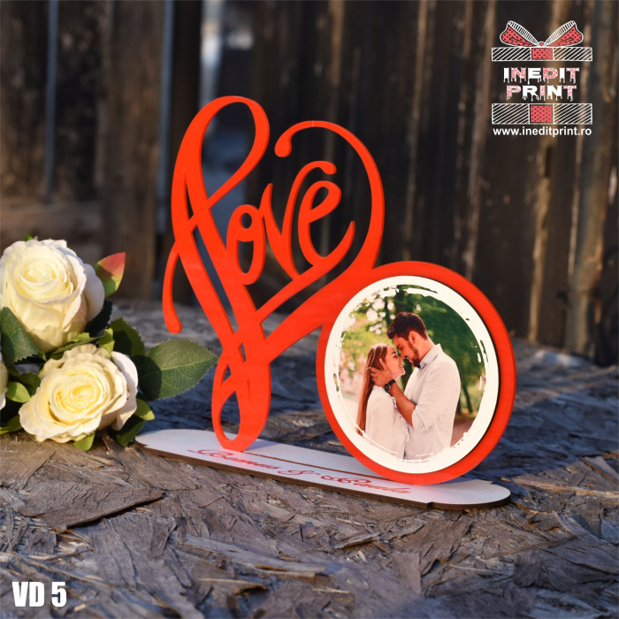 Rama foto personalizata LOVE VD5 1