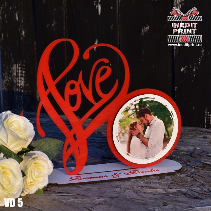 Rama foto personalizata LOVE VD5 0