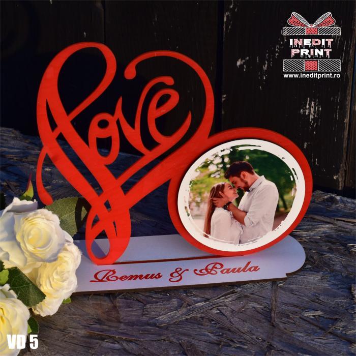 Rama foto personalizata LOVE VD5 2