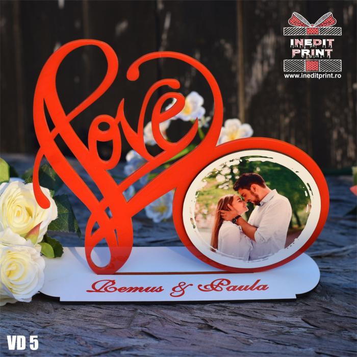 Rama foto personalizata LOVE VD5 3