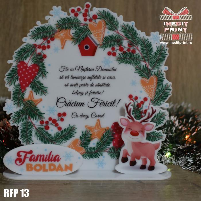 Decoratiune Craciun personalizata REINDEER RFP13 0