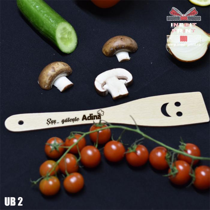 Spatulă cu zâmbet personalizată Gătește  UB2 0