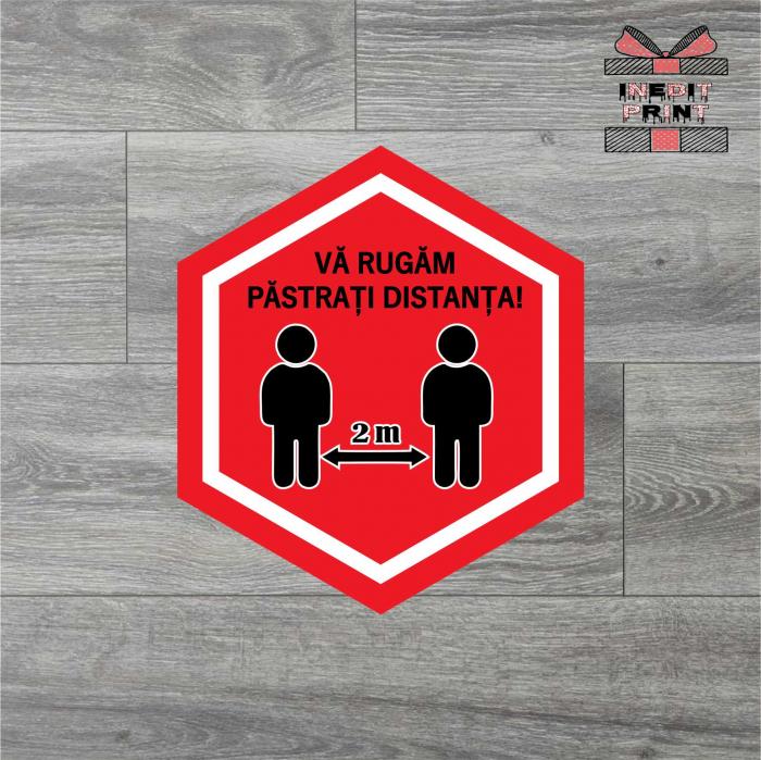 Sticker Pastreaza distanta SCM7 0