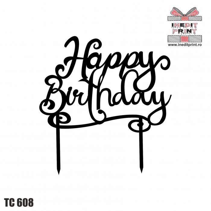 Topper tort Happy Birthday TC608 0
