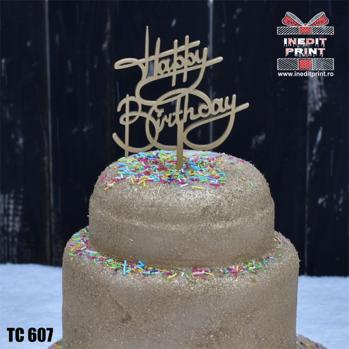 Topper tort Happy Birthday TC607 1