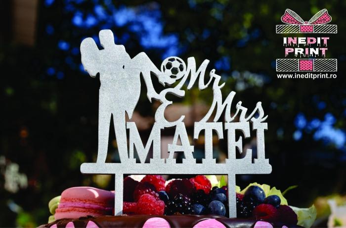Topper Tort Personalizat Mr&Mrs TC109 [1]