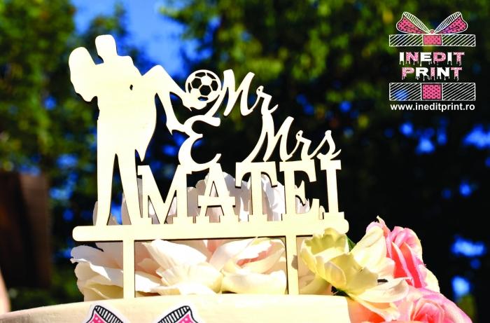 Topper Tort Personalizat Mr&Mrs TC109 [3]