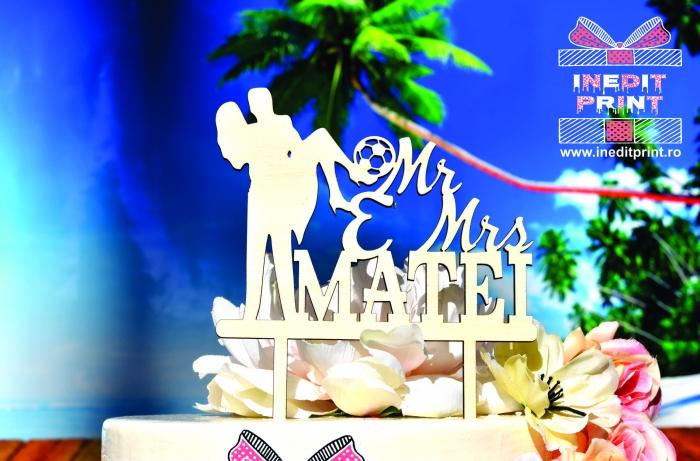 Topper Tort Personalizat Mr&Mrs TC109 [2]