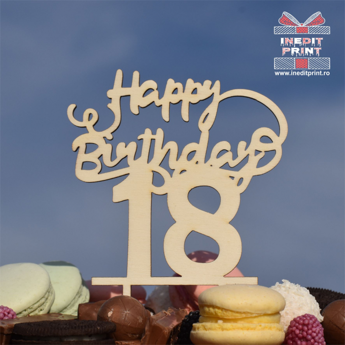 Topper tort Personalizat Happy Birthday TC221 0