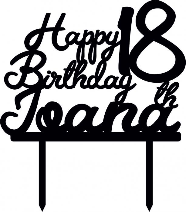 Topper Tort Personalizat Happy birthday TC190 [0]