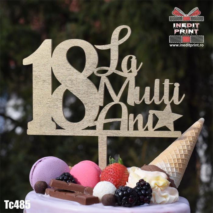 Topper tort Personalizat - La mulți ani! TC485 0