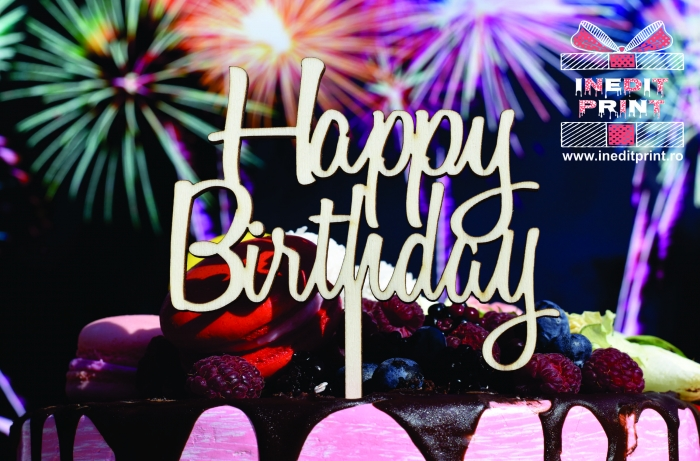 Topper Tort  Happy Birthday TC154 0