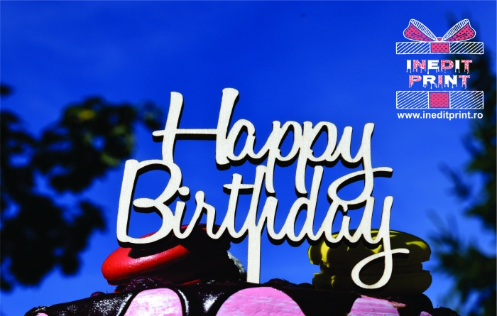 Topper Tort  Happy Birthday TC154 3