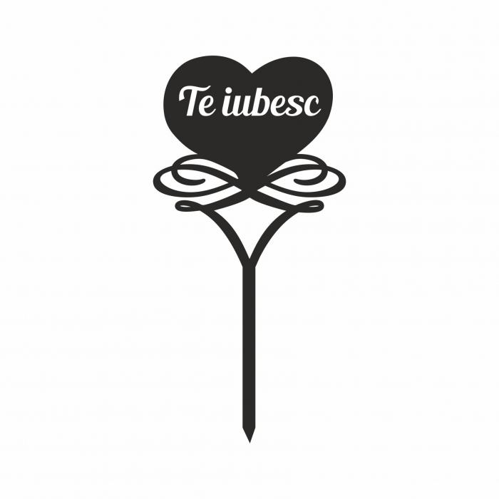 Topper tort Te iubesc  TC249 0