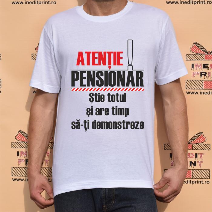 Tricou Atentie PENSIONAR TP 156 0
