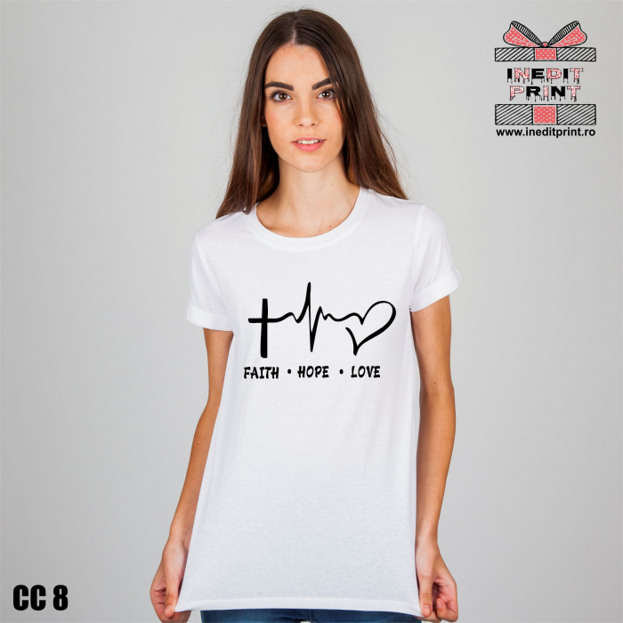 Tricou Faith Hope Love CC8 0