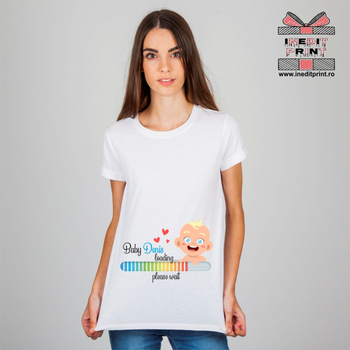Tricou Personalizat Baby is coming TP158 0