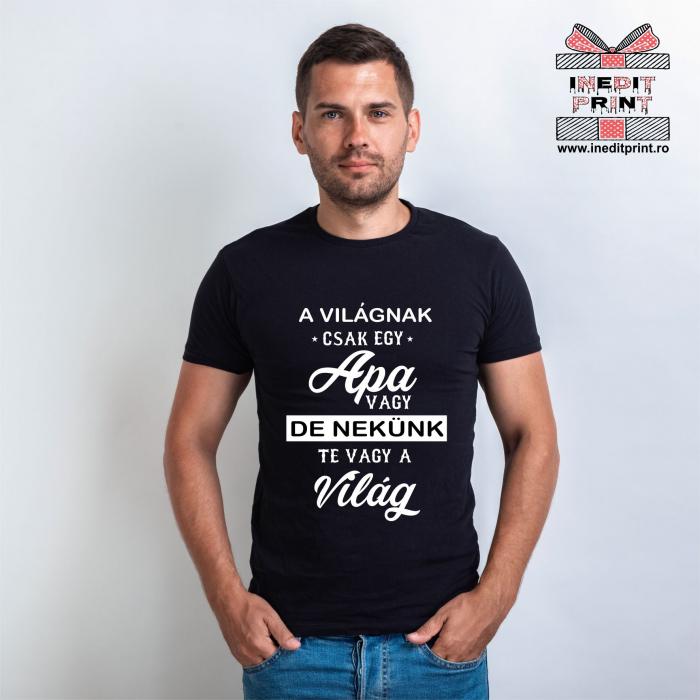 Tricou Tată - întreaga lume - Maghiara TPM15 0