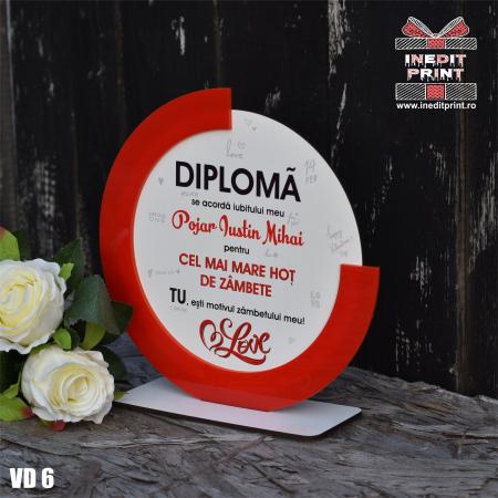 Diploma personalizata Hot de zambete VD62