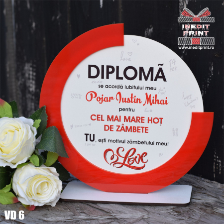 Diploma personalizata Hot de zambete VD63