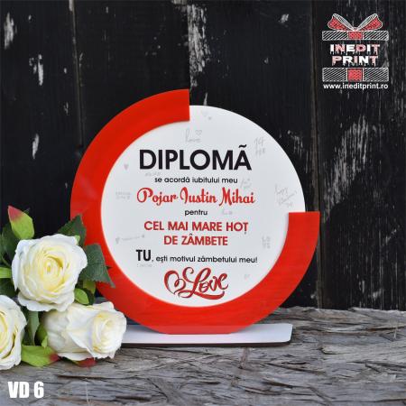Diploma personalizata Hot de zambete VD60