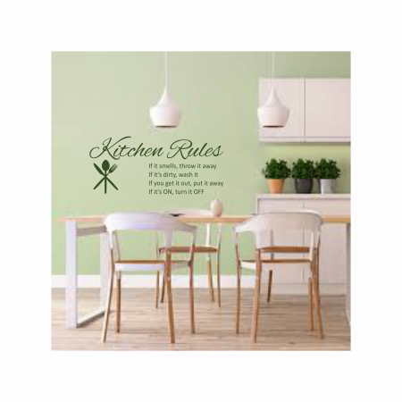 Sticker Kitchen Rules SP110
